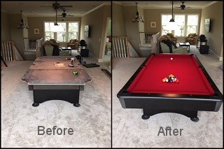 expert pool table recovering in Newnan content img3